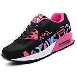 QIMAOO Ladies Womens Air Max Sports Running Shoes Shock Absorbing Size Trainer Gym Fitness Sneaker Running Jogging Trainers