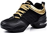 DADAWEN Women's Ladies Athletic Fitness Modern Rockit Dance Sneaker Soft Sole Lace-up Shoes