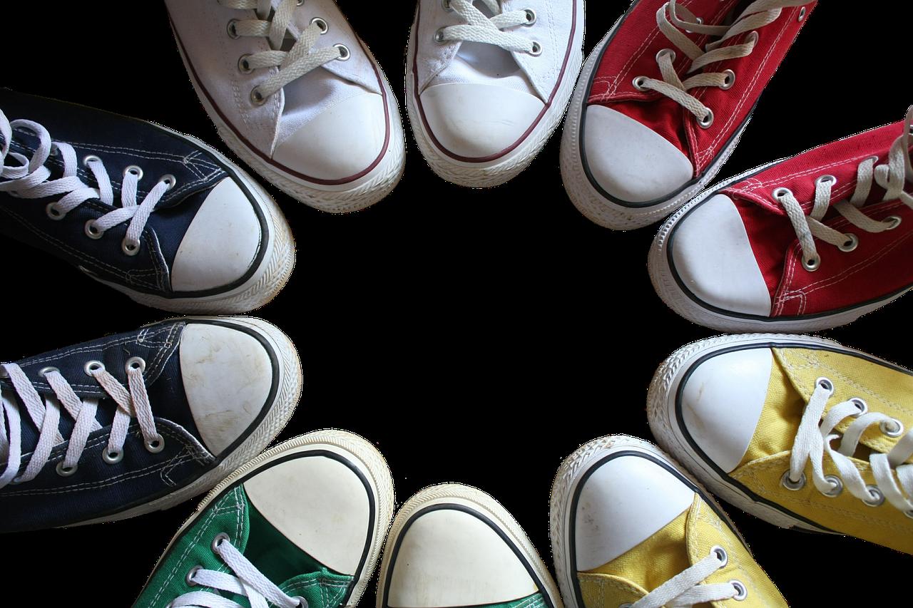 Sneakers run photo